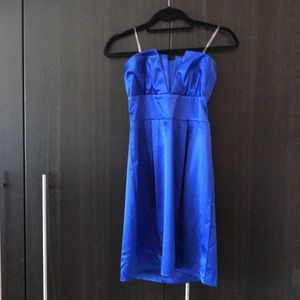Strapless Royal Blue Cocktail/Homecoming Dress